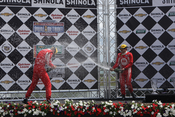 GT podium: winners Max Papis, Jeff Segal