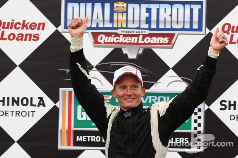 Race winner Mike Conway, Dale Coyne Racing Honda