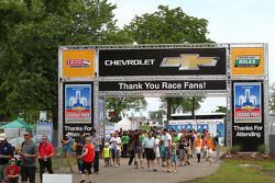 Entrance to the Raceway on Belle Isle