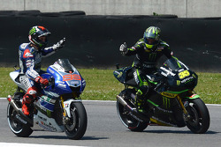 Winner Jorge Lorenzo and third place Cal Crutchlow