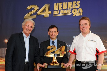 ORECA Group president Hugues de Chaunac, ACO president Francois Fillon and Rebellion Racing's Bart Hayden
