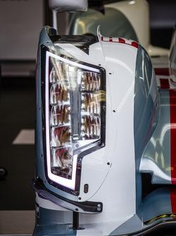 #1 Audi Sport Team Joest Audi R18 e-tron quattro headlight detail
