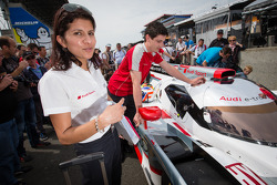 #1 Audi Sport Team Joest Audi R18 e-tron quattro with race engineer Leena Gade