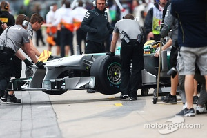 Lewis Hamilton, Mercedes AMG F1 W04 running the Pirelli development tyre