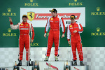 Trofeo Pirelli podium: winner Onofrio Triarsi, second place #8 Ferrari of Fort Lauderdale, third place Michael Schein