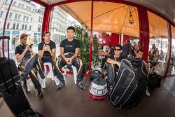 Nick Heidfeld, Neel Jani, Congfu Cheng, Andrea Belicchi and Mathias Beche