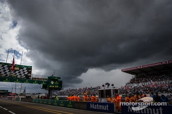 Threatening clouds over Le Mans with 20 minutes to go