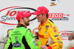 Race winner James Hinchcliffe with Ryan Hunter-Reay