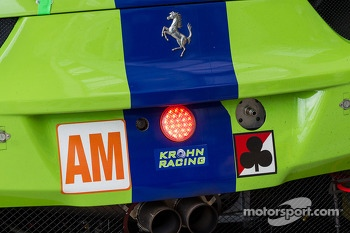 Details on the #57 Krohn Racing Ferrari F458 Italia: Tracy Krohn, Nic Jonsson, Maurizio Mediani