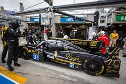Pit stop for #31 Lotus Praga LMP2 Lotus T128: Kevin Weeda, James Rossiter, Christophe Bouchut