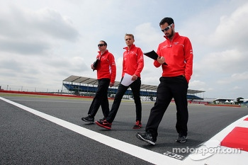 Max Chilton, Marussia F1 Team walks the circuit.