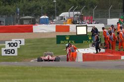 Felipe Massa, Ferrari F138 crashed in the second practice session