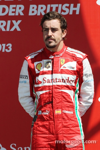 Fernando Alonso Ferrari on the podium