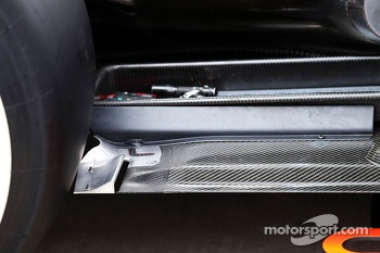 Mercedes AMG F1 W04 rear floor detail