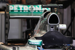 Mercedes AMG F1 W04 engine cover