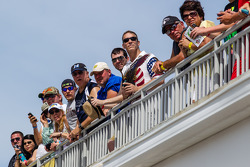 Fans watch practice action