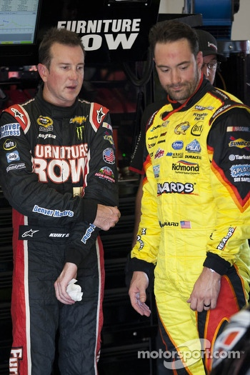 Kurt Busch and Paul Menard