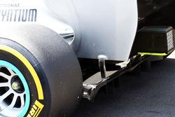 Mercedes AMG F1 W04 of Lewis Hamilton, Mercedes AMG F1 rear diffuser detail