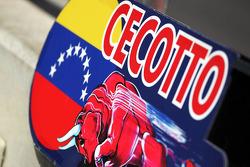 Pit board for Johnny Cecotto, Scuderia Toro Rosso Test Driver
