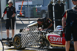 Nicolas Prost, Lotus F1 E21 Test Driver running sensor equipment