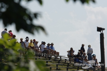 Fans watch turns 6, 7 and 8 from the hill.