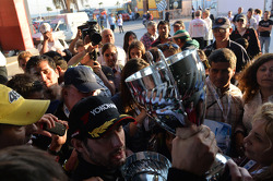 Celebration, Jose Maria Lopez, BMW 320 TC, Wiechers-Sport race winner