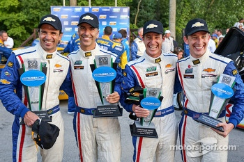 Second place Christian Fittipaldi, Joao Barbosa, third place Burt Frisselle, Brian Frisselle