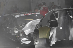 Fire Extinguisher starts in the car of Timo Scheider, Audi Sport Team ABT Sportsline Audi A5 DTM