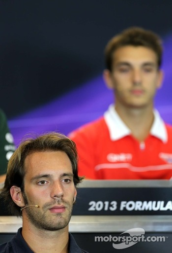 Jean-Eric Vergne, Scuderia Toro Rosso  at the press conference