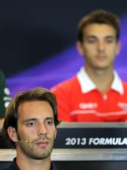 Jean-Eric Vergne, Scuderia Toro Rosso  at the press conference