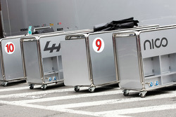 Grid equipment for the Mercedes AMG F1 team