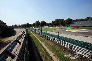 The old Monza circuit banking at the Rettifilo Chicane