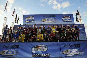 Drivers photoshoot for 1000th Nationwide race