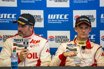 Yvan Muller and Tom Chilton discuss Tom's first pole after qualification
