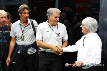 Bernie Ecclestone, CEO Formula One Group, with Franco Scandinaro