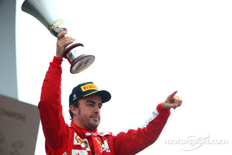 Second place Fernando Alonso, Ferrari