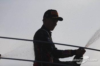 Race winner Daniil Kvyat
