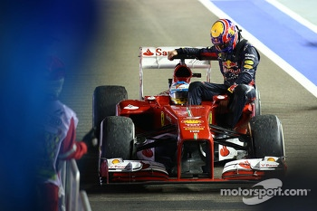 Fernando Alonso, Ferrari and Mark Webber, Red Bull Racing
