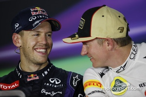 Sebastian Vettel, Red Bull Racing and Kimi Raikkonen, Lotus F1 Team in the FIA Press Conference