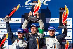 LMGTE Pro podium: class winners Bruno Senna, Frédéric Makowiecki
