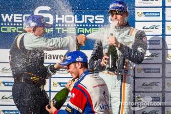 LMGTE Am podium: champagne for Stuart Hall and Jean-Karl Vernay