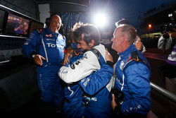 The Alpine team celebrates the championship