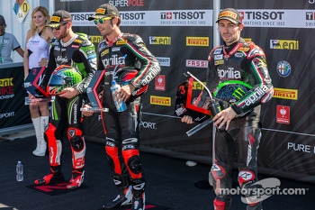 Top 3 from Superpole: Tom Sykes, Eugene Laverty, Sylvain Guintoli