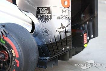 Sergio Perez, McLaren MP4-28 rear wing