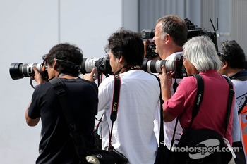 Photographer in the paddock