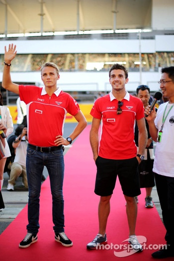 Max Chilton, Marussia F1 Team and Jules Bianchi, Marussia Formula One Team