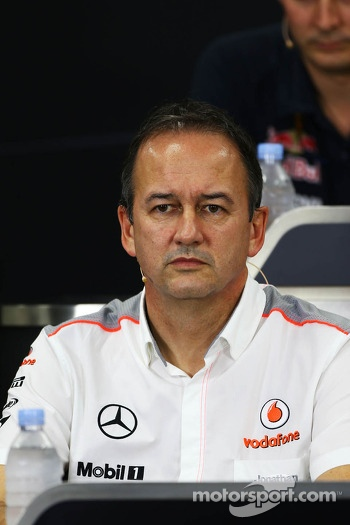 Jonathan Neale, McLaren Managing Director in the FIA Press Conference
