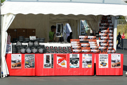 F1 themed delicacies on a merchandise stand