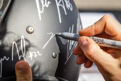 Nicolas Prost signs autographs