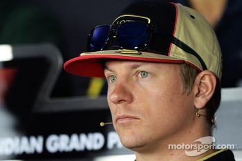 Kimi Raikkonen, Lotus F1 Team in the FIA Press Conference